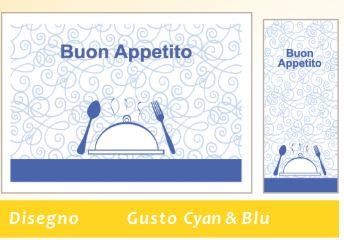 COORDINATO GUSTO CYAN+BLU